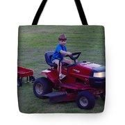 Lawnmower Boy Tote Bag