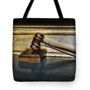 Lawyer - The Judge's Gavel Tote Bag by Paul Ward