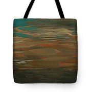 Layered Teal Sunset Tote Bag
