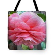 Layers Of Pink Camellia - Digital Art Tote Bag