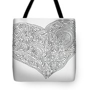 Laying Your Heart On A Line  Tote Bag