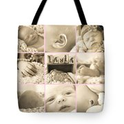 Layla  Collage Tote Bag