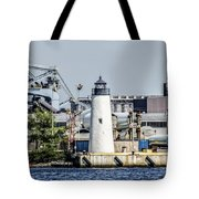 Lazaretto Point Lighthouse Tote Bag