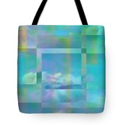 Lazy Days Pastel Squared Tote Bag