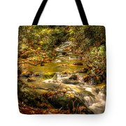 Lazy Mountain Water Fall Tote Bag