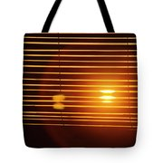 Lazy Summer Afternoon With Sunset View Through The Wooden Window Shades Tote Bag