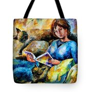 Lazy Time - Palette Knife Oil Painting On Canvas By Leonid Afremov Tote Bag
