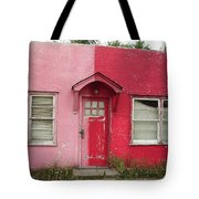 Lazy U Motel - Pink And Red Tote Bag