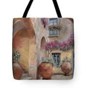 Le Arcate In Cortile Tote Bag by Guido Borelli