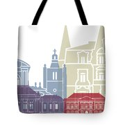 Le Havre Skyline Poster Tote Bag