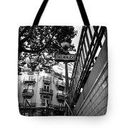 Le Metro From Below Tote Bag by Kathy Yates