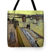 Le Pont De Trinquetaille In Arles Tote Bag by Vincent Van Gogh