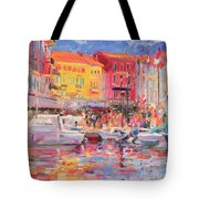 Le Port De St Tropez Tote Bag by Peter Graham