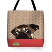 Le Pug Et Le Macaron Tote Bag