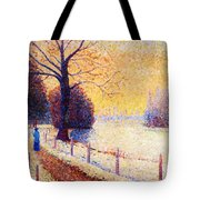 Le Puy In The Snow 1889 Tote Bag