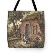 Le Vieux Chat Et La Jeune Souris (the Old Catand The Young Mouse) Tote Bag