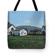 Lea Homestead Tote Bag by DigiArt Diaries by Vicky B Fuller