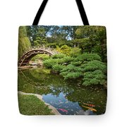Lead The Way - The Beautiful Japanese Gardens At The Huntington Library With Koi Swimming. Tote Bag