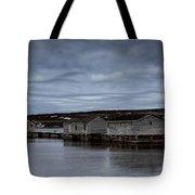 Leaden Sky Over Shacks Tote Bag
