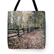 Leaf Covered Trail Tote Bag