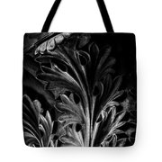 Leaf Detail 2 Black And White Tote Bag