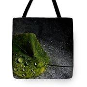 Leaf Droplets Tote Bag