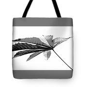 Leaf In Black And White Tote Bag