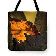 Leaf In Fork Tote Bag
