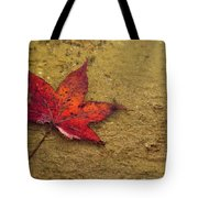 Leaf In The Rain Nature Photograph Tote Bag