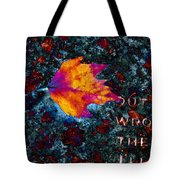 Leaf On Stone Tote Bag