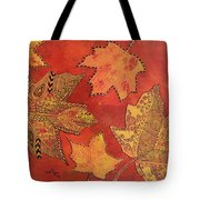 Leaf Prints And Zentangles Tote Bag
