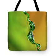 Leaf Profile And Water Droplets Tote Bag by Kaye Menner