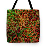 Leaf Segment Abstract Tote Bag