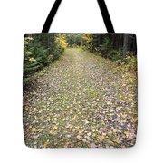 Leaf-strewn Trail Tote Bag