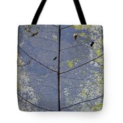 Leaf Structure Tote Bag by Debbie Cundy
