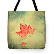 Leaf Upon The Water Tote Bag by Bill Cannon