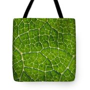 Leaf Veins Tote Bag