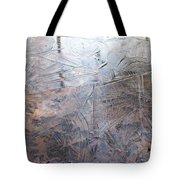 Leafs And Ice Tote Bag