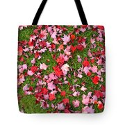 Leafs On Grass Tote Bag