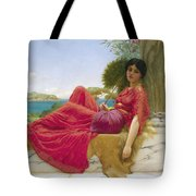 Leaning Against A Column Tote Bag