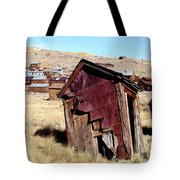 Leaning Bodie Outhouse Tote Bag