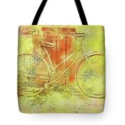 Leaning In Bicycle Tote Bag