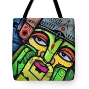 Leaning King Tote Bag