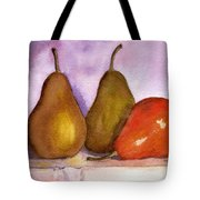 Leaning Pear Tote Bag