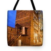 Leaning Tower By Night In Torun Tote Bag
