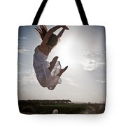 Leaping For The Sun Tote Bag