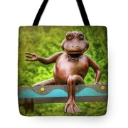 Leaping Frog In Boston  Tote Bag