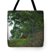 Leaping White-tail  Tote Bag