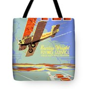 Learn To Fly Vintage Poster Restored Tote Bag