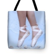 Learning To Walk In Dance World With Pink Pointe Shoes Tote Bag
